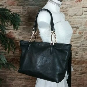 Coach Tote Madison East West Purse Pebbled Leather